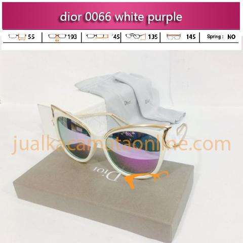 jual kacamata dior 0066 white purple
