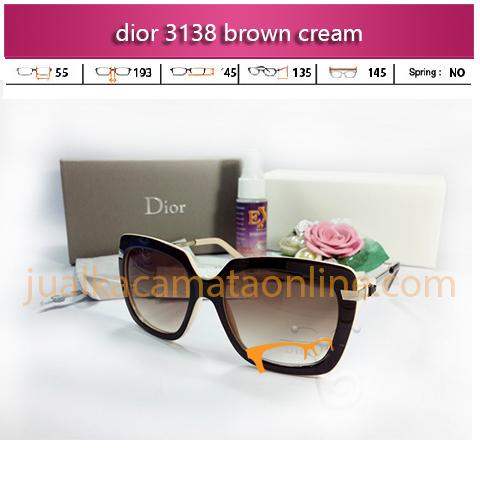 jual kacamata dior 3138 cream-kacamata-dior-3138-brown-cream