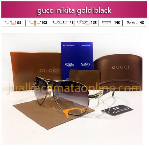 jual kacamata gucci nikita gold black