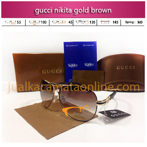 sunglasses gucci nikita gold brown