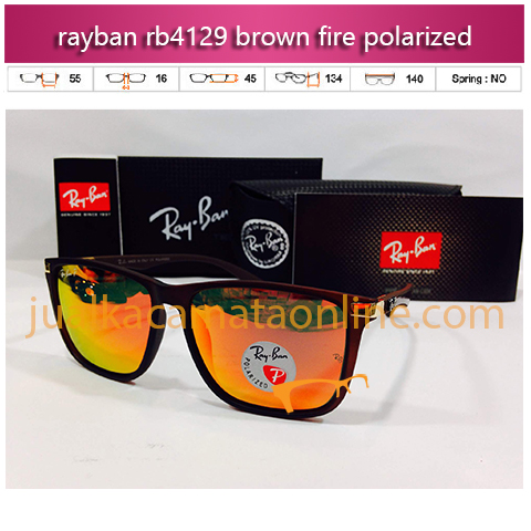 jual kacamata polarized rayban rb4129 brown fire