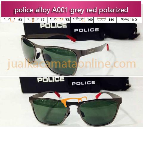 Jual Kacamata Police A001 Grey Red