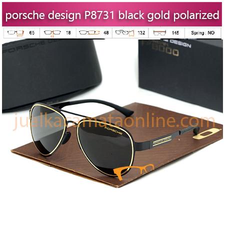 Jual Kacamata Porsche Design P8731 black gold