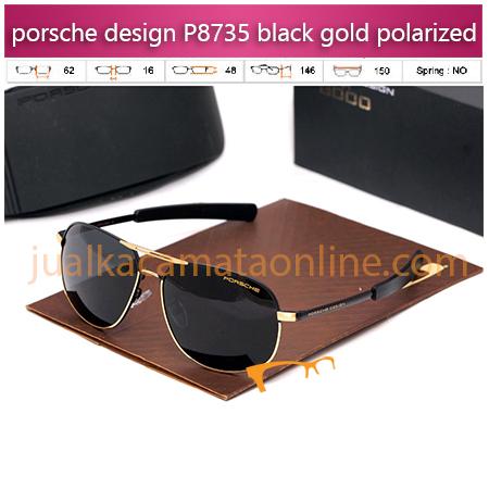 Kacamata Porsche Design P8735 Black Gold