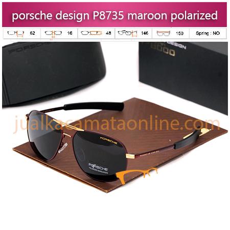 Jual Kacamata Porsche Design P8735 maroon