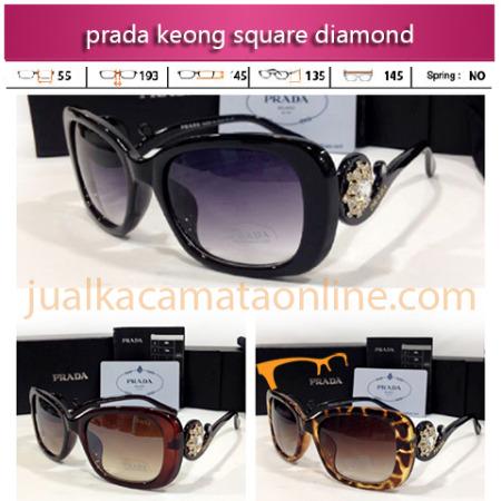 Jual Kacamata Prada Keong Square Diamond Terbaru