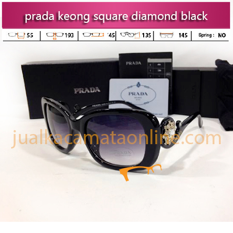 Jual Kacamata Prada Keong Square Diamond Black