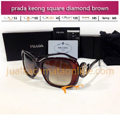 Prada Keong Square Diamond Brown