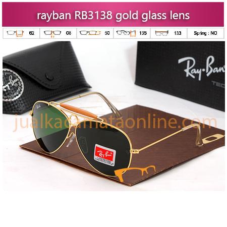 Jual Kacamata Rayban Shooter RB3138 Gold