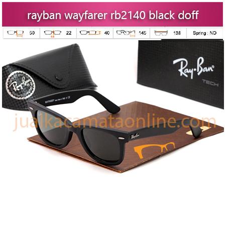 Jual Kacamata Rayban Wayfarer RB2140 Black Doff