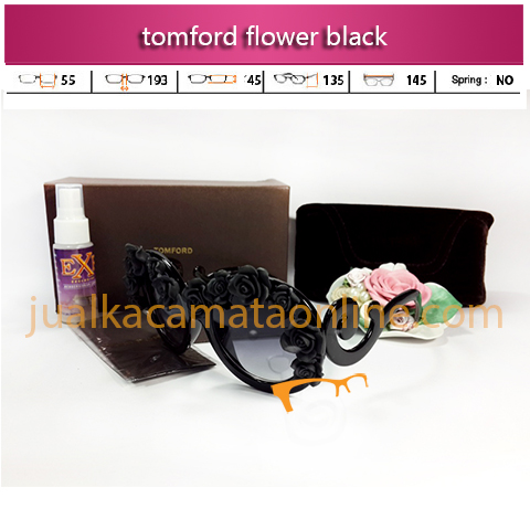 kacamata tom ford flower black