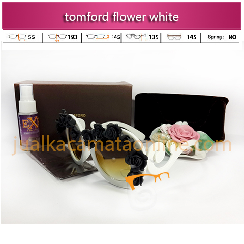 jual kacamata tom ford flower white