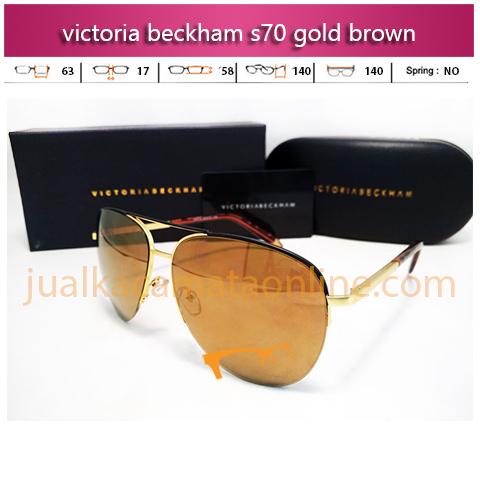 Jual Kacamata Victoria Beckham S70 Gold Brown