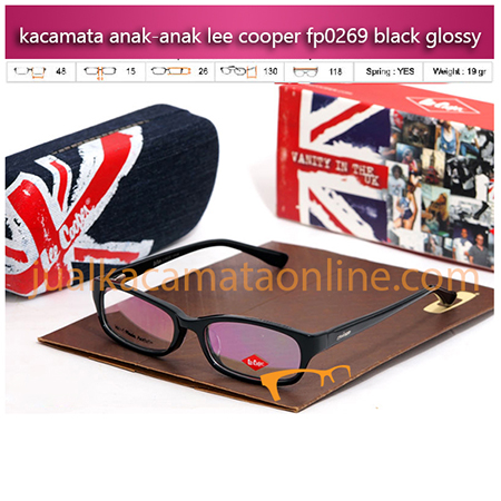 Kacamata Lee Cooper P0269 Black Glossy