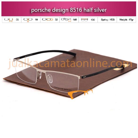 Jual Frame Kacamata Baca Porsche Design 8516 silver