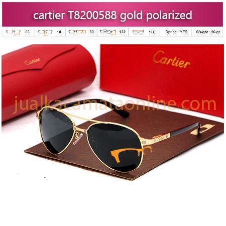 Jual Kacamata Cartier T8200588 gold