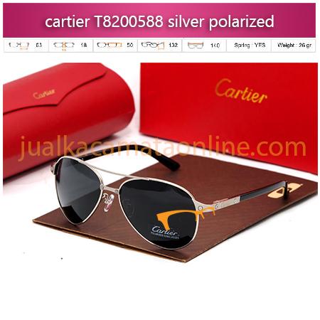 Kacamata Cartier T8200588 silver