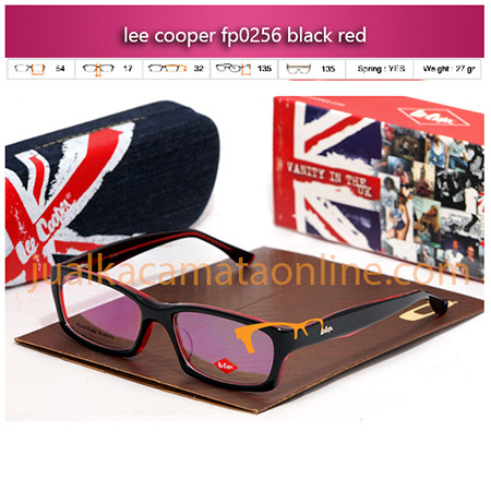 Jual Kacamata Lee Cooper P0256 black red