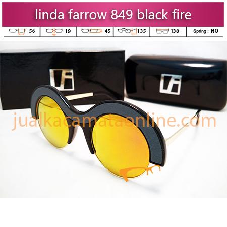 kacamata linda farrow 849 black fire