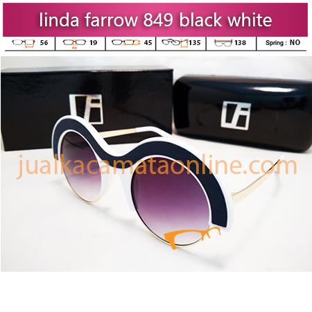 kacamata trendy linda farrow 849 black white