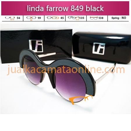 kacamata wanita linda farrow 849 black