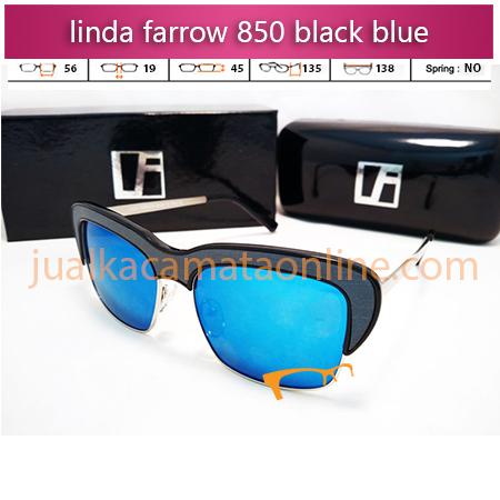 jual sunglasses linda farrow 850 black blue