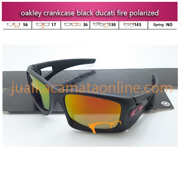 Oakley Crankcase Black Ducati FIre Polarized