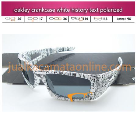 Model Kacamata Oakley Terbaru Crankcase White History Text