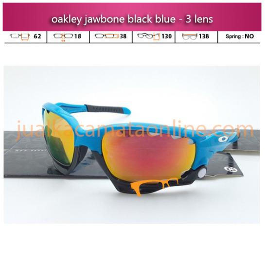 Harga Kacamata Oakley Jawbone Black Blue Polarized