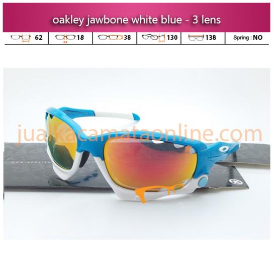 Oakley Jawbone White Blue Polarized