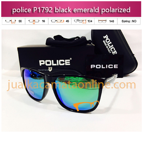 kacamata police p1792 black emeral polarized