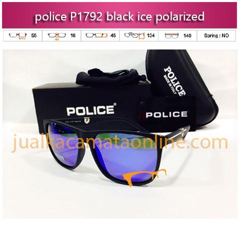 jual kacamata police p1792 black ice polarized