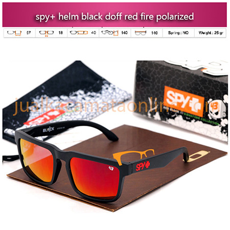 Jual Kacamata Spy+ Helm Black Doff Red Fire