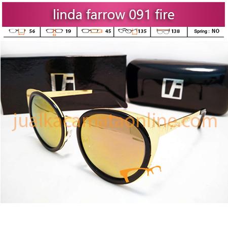 kacamata linda farrow 091 black fire