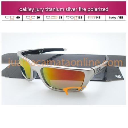 model kacamata oakley terbaru jury titanium silver fire