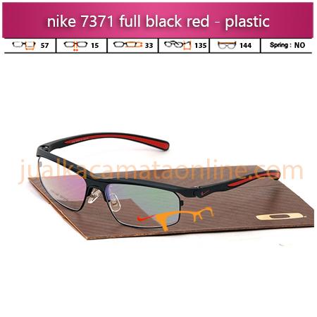 Jual Frame Kacamata Nike 7371 Black Red