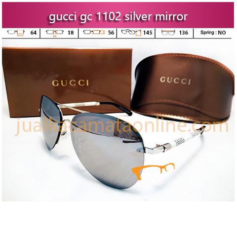 Jual Kacamata Gucci 1102 Silver Mirror
