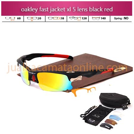 Jual Kacamata Oakley Fast Jacket XL Black Red