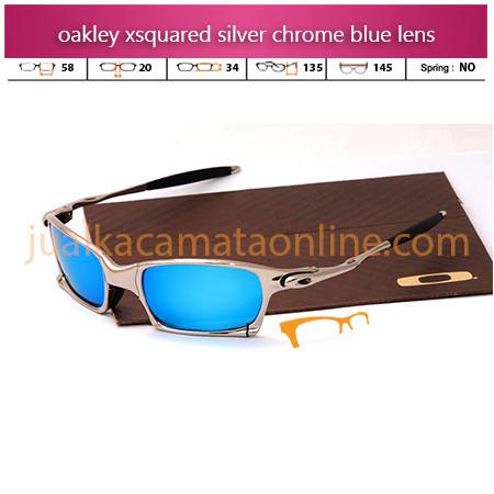 Kacamata Oakley Xsquared Xtreme Silver Chrome Blue
