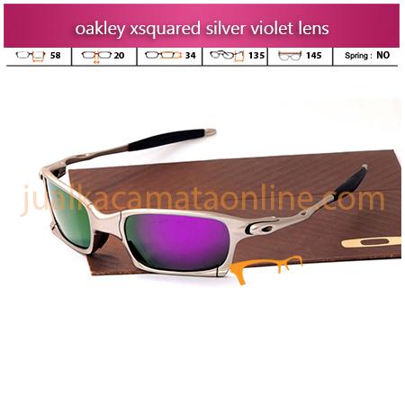 Model Kacamata Oakley Xsquared Xtreme Silver Violet