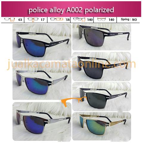 Jual Kacamata Police A002 Aluminium Polarized Terbaru