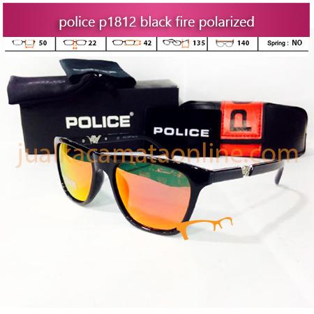 Kacamata Police P1812 Black Fire