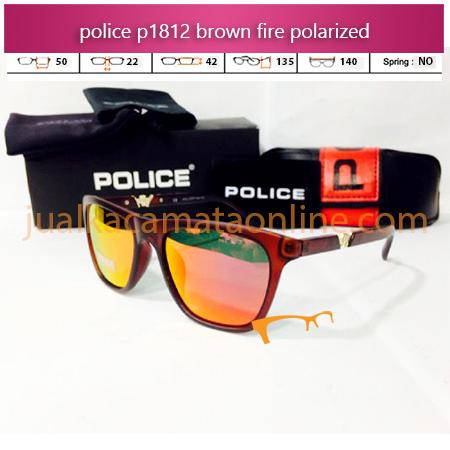 Kacamata Police P1812 brown Fire