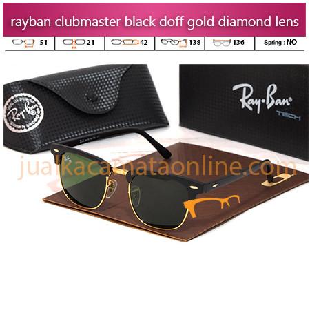Jual Kacamata Rayban Clubmaster Black Doff Gold