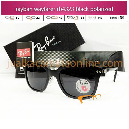 Jual Kacamata Rayban Wayfarer RB4323 Black