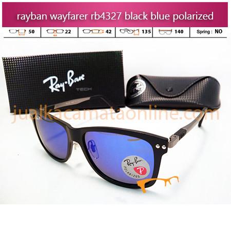 Harga Kacamata Rayban Wayfarer RB4327 Black Blue