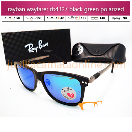 Model Kacamata Rayban Wayfarer RB4327 Black Green