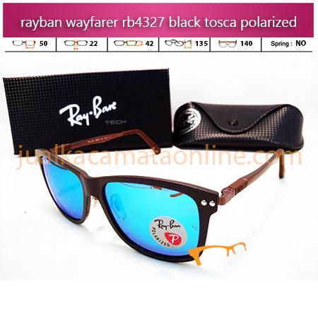 Jual Kacamata Rayban Wayfarer RB4327 Black Tosca
