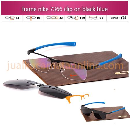 Frame Kacamata Nike 7366AF Clip On Black Blue