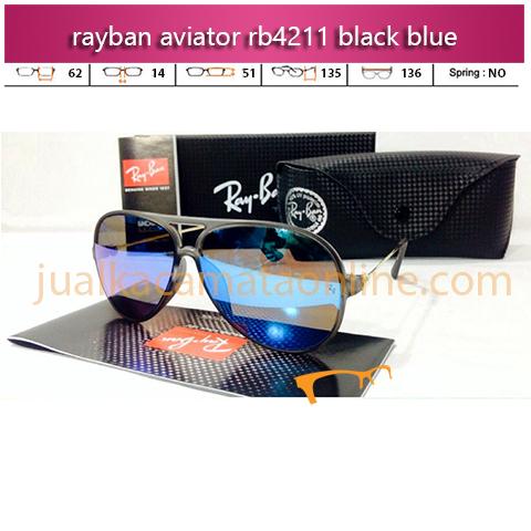 Jual Kacamata Rayban Aviator RB4211 Black Blue